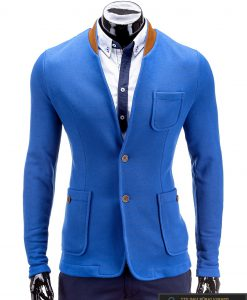 Stilingas mėlynos spalvos vyriškas švarkas vyrams internetu pigiau