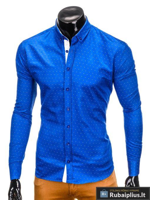 """Mėlyni stilingi marškiniai vyrams """"Kiano"""" internetu pigiau"""
