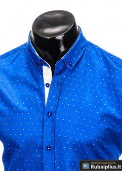 Mėlyni stilingi marškiniai vyrams