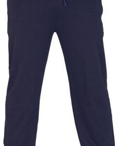 Tamsiai mėlynos spalvos sportinės kelnės vyrams