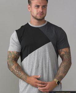 """Pilkos spalvos vyriški marškinėliai """"Authentic"""" internetu pigiau"""