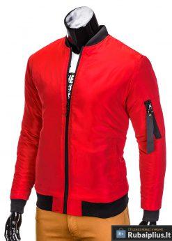 Stilinga Raudonos spalvos vyriška striukė vyrams