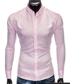 """Stilingi Rožinės spalvos marškiniai vyrams """"Aga"""" internetu pigiau"""