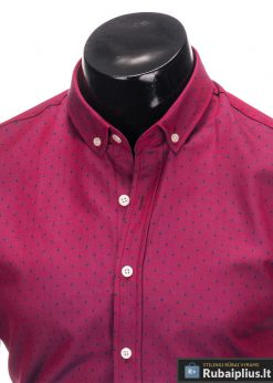 Stilingi Tamsiai rožinės spalvos marškiniai vyrams internetu pigiau