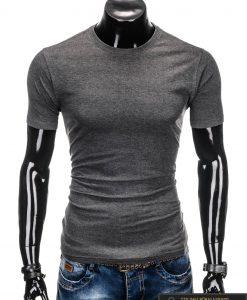 """Tamsiai pilki vyriški marškinėliai vyrams """"Lak"""" internetu pigiau"""