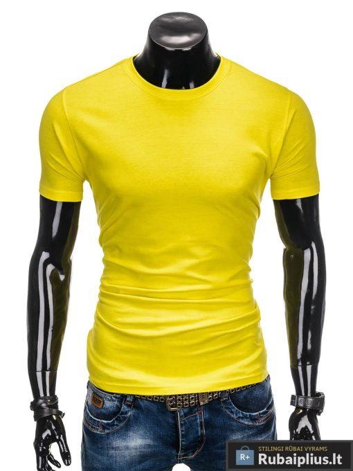 """Geltonos spalvos vyriški marškinėliai vyrams """"Lak"""" internetu pigiau"""