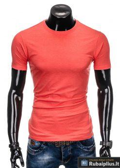 """Koralinės spalvos vyriški marškinėliai vyrams """"Lak"""" internetu pigiau"""