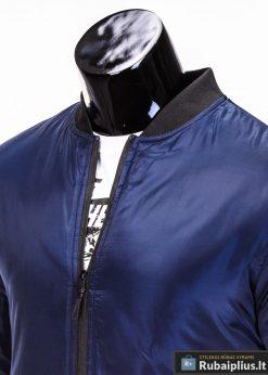 Tamsiai mėlynos spalvos striukė vyrams