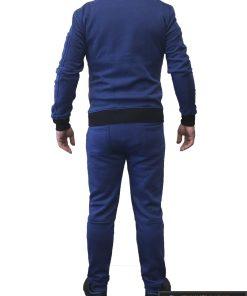 Mėlynas vyriškas sportinis kostiumas vyrams