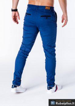 Mėlynos spalvos vyriškos kelnės