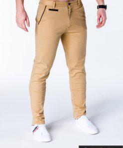Rusvos spalvos vyriškos kelnės