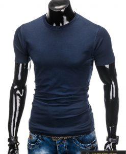 """Tamsiai mėlyni vyriški marškinėliai vyrams """"Lak"""" internetu pigiau"""