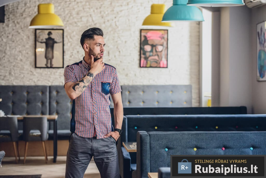 Vyriški marškiniai trumpomis rankovėmis internetu pigiau