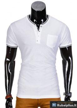 Balti marškinėliai vyrams internetu pigiau Jarom S667