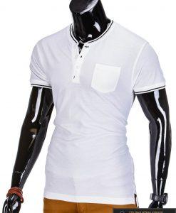 Baltos spalvos vyriški marškinėliai vyrams internetu pigiau