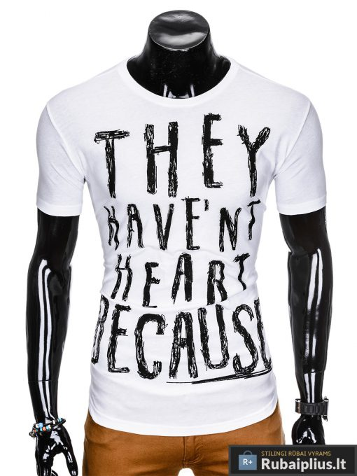 stilingi vyriški balti marškinėliai vyrams internetu pigiau
