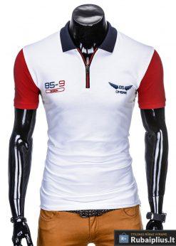 Balti polo marškinėliai vyrams internetu pigiau Antonio S880