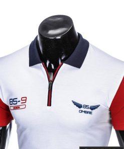 Baltos spalvos vyriški polo marškinėliai vyrams internetu pigiau