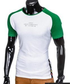 stilingi Baltos-žalios spalvos vyriški marškinėliai vyrams internetu pigiau