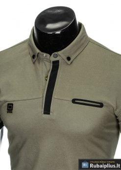 madingi vyriški chaki polo marškinėliai vyrams internetu pigiau