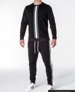 Juodos spalvos vyriškas sportinis kostiumas vyrams internetu pigiau