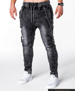 stilingi jogger vyriški džinsai vyrams Juodos spalvos vyriškos džinsinės kelnės