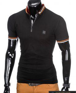 stilingi vyriški Juodi polo marškinėliai vyrams internetu pigiau