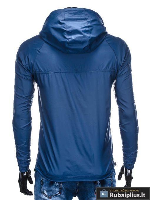 Tamsiai mėlynos spalvos vyriška striukė VYRAMS pavasariui internetu pigiau