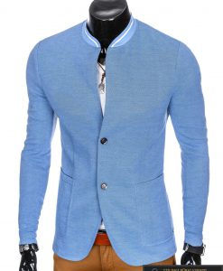 Stilingas šviesiai mėlynas vyriškas švarkas vyrams internetu pigiau