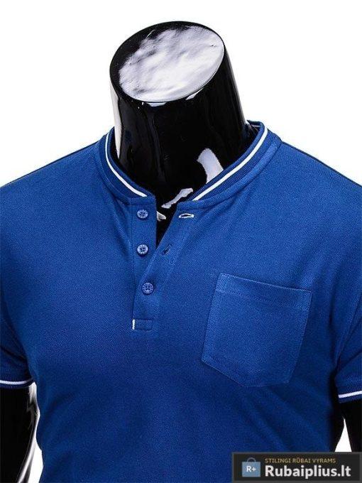"""Mėlynos spalvos vyriški marškinėliai vyrams """"Jarom"""" internetu pigiau"""