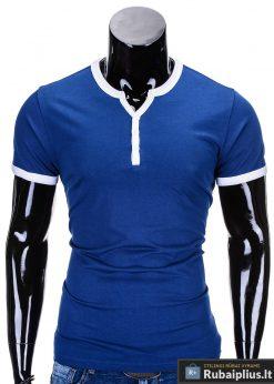 Mėlyni marškinėliai vyrams internetu pigiau Solt S651