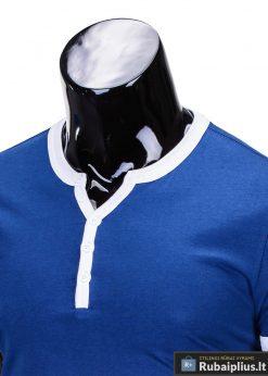 Mėlynos spalvos vyriški marškinėliai vyrams internetu pigiau