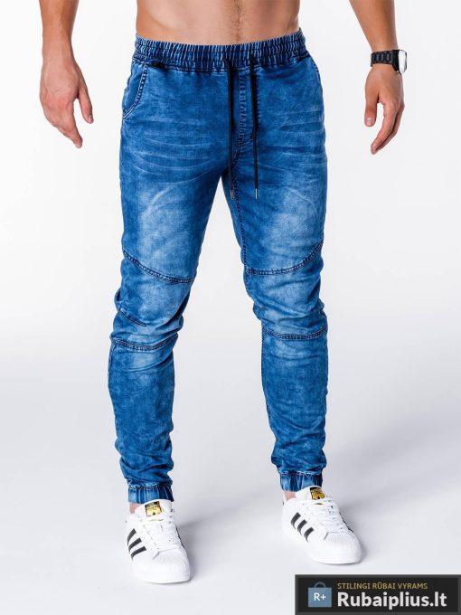 Vyriški džinsai vyrams mėlynos spalvos vyriškos džinsinės kelnės