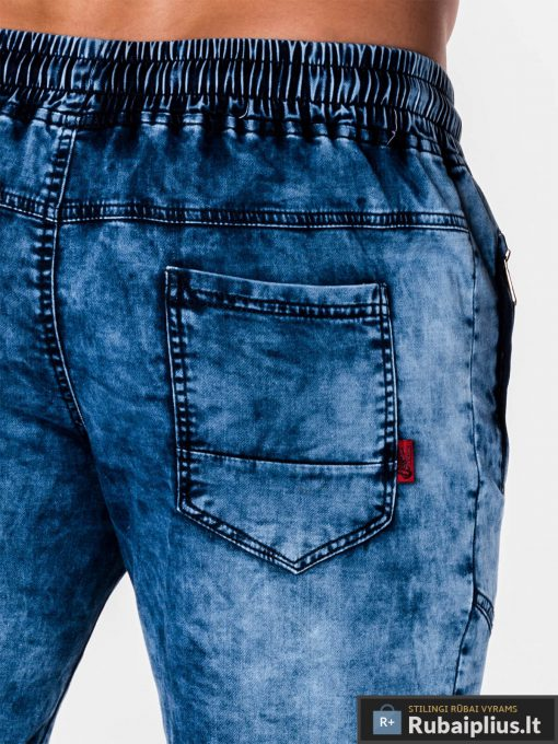 mėlynos spalvos vyriški džinsiniai šortai vyrams internetu pigiau