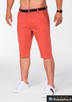 Oranžinės spalvos vyriški šortai vyrams internetu pigiau