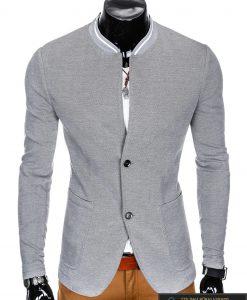 Stilingas pilkas vyriškas švarkas vyrams internetu pigiau