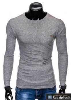 Pilki marškinėliai vyrams ilgomis rankovėmis internetu pigiau Draf L103