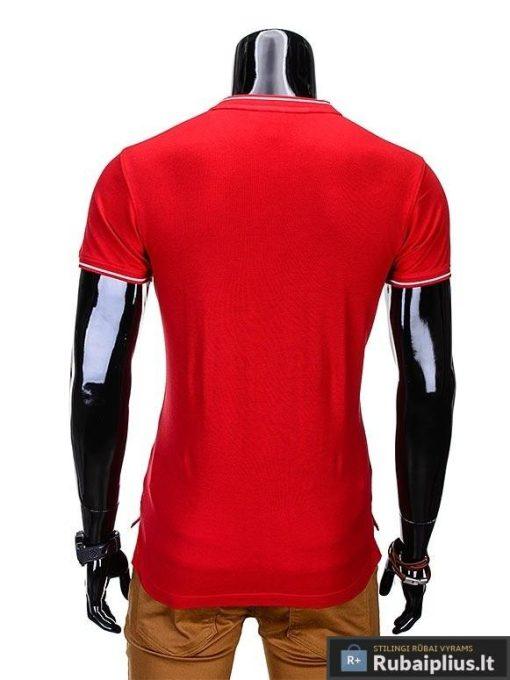 """Raudonos spalvos vyriški marškinėliai vyrams """"Jarom"""" internetu pigiau"""
