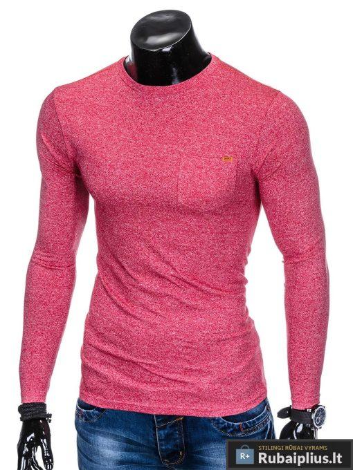 Raudoni stilingi vyriški marškinėliai vyrams ilgomis rankovėmis internetu pigiau