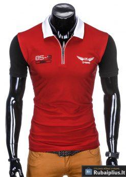 Raudoni polo marškinėliai vyrams internetu pigiau Antonio S880