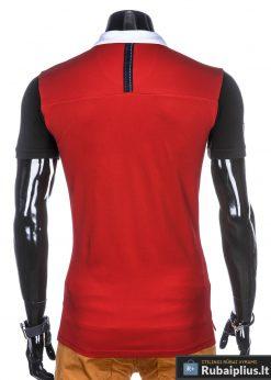 Raudonos spalvos vyriški polo marškinėliai internetu pigiau