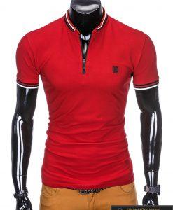 stilingi vyriški Raudoni polo marškinėliai vyrams internetu pigiau