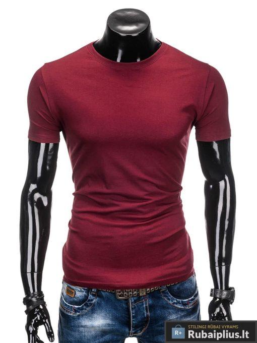 tamsia-raudoni-vyriški-marskineliai-vyrams-lak-S884-1