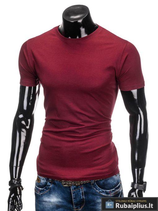 Tamsiai raudonos spalvos vyriški marškinėliai vyrams internetu pigiau