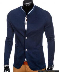 Stilingas tamsiai mėlynas vyriškas švarkas vyrams internetu pigiau