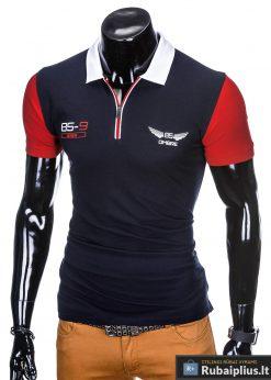 Mėlyni vyriški polo marškinėliai vyrams internetu pigiau