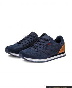 tamsiai mėlynos spalvos stilingi vyriški sportiniai batai vyrams internetu pigiau