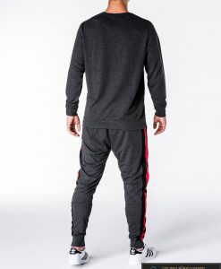 Pilkos spalvos vyriškas sportinis kostiumas vyrams internetu pigiau