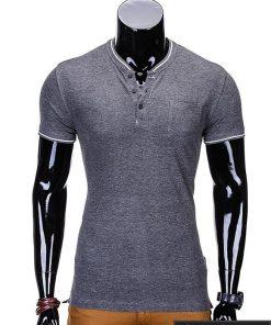 Tamsiai pilki marškinėliai vyrams internetu pigiau Jarom S667