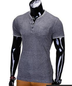Tamsiai pilki vyriški marškinėliai vyrams internetu pigiau